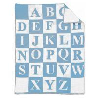 Alphabet Baby Blanket in Royal/White