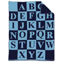 Alphabet Baby Blanket in White/Black