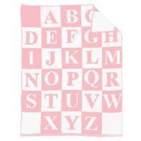 Alphabet Baby Blanket in Black/Pink