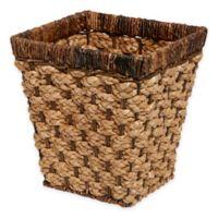 Peconic Bay Wastebasket in Natural/Brown
