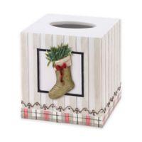 Avanti Farmhouse Holiday Boutique Tissue Box Cover