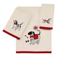 Avanti Happy Pawlidays 3-Piece Towel Set