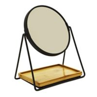 Robely Ryu Vanity Mirror with Accessory Tray in Black