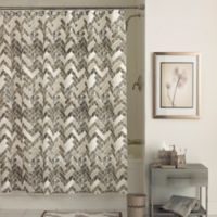 Walkway Shower Curtain in Taupe