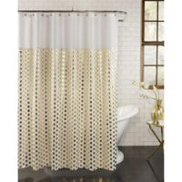Goldie Fabric Shower Curtain in Gold
