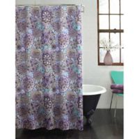 Ode to Geode Multicolor Shower Curtain