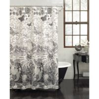 Tateez Shower Curtain in Black/White