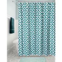 InterDesign Athena Fabric Shower Curtain in Teal