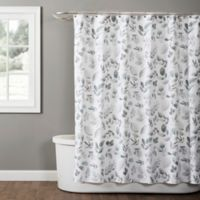 Windsor Leaves 54-Inch x 78-Inch Shower Curtain in Grey
