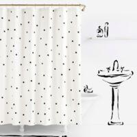 kate spade new york Deco Dot 54-Inch x 78-Inch Shower Curtain
