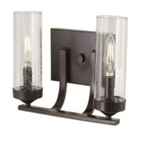 Minka Lavery Elyton 2-Light Bath Vanity Light in Bronze