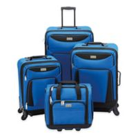 Geoffrey Beene Hempstead 4-Piece Luggage Set in Royal Blue