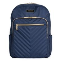 Kenneth Cole Reaction Quilted Chevron Backpack in Navy