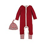 Burt's Bees Baby® Newborn 2-Piece Organic Cotton Thermal Coverall and Cap Set in Red