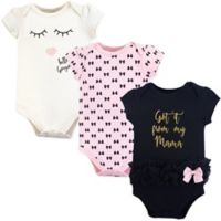 Little Treasures Size 12-18M 3-Pack Mama Bodysuits