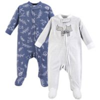 Yoga Sprout Size 3-6M 2-Pack Forest Sleep & Play Pajamas in Blue