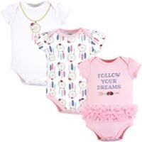 Little Treasures Size 3-6M 3-Pack Dream Catcher Bodysuits in Pink