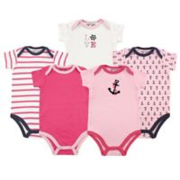 Luvable Friends® Nautical Size 12-18M 5-Pack Bodysuits in Pink