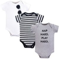 Little Treasures Size 12-18M 3-Pack Nap Hard Bodysuits in Grey