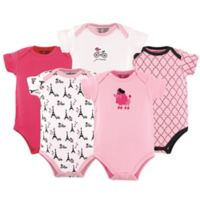 Luvable Friends® Poodle Size 12-18M 5-Pack Bodysuits in Pink