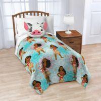 Disney® Moana Nogginz Pillow and Throw Blanket Set in Blue