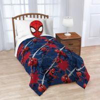 """Marvel® Spiderman Nogginz Pillow & 62"""" x 90"""" Fleece Blanket Set"""