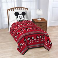 Disney® Mickey Mouse Nogginz Pillow and Throw Blanket in Red