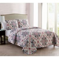 VCNY Home Wyndham Medallion Reversible King Quilt Set