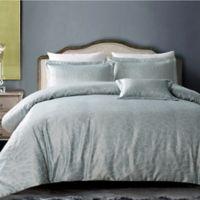 Hotel Bloom Full/Queen Duvet Cover Set in Grey