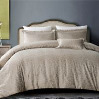 Hotel Bloom Full/Queen Duvet Cover Set in Taupe
