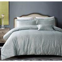 Hotel Bloom King Duvet Cover Set in Grey