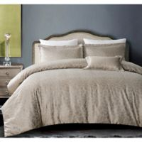 Hotel Bloom King Duvet Cover Set in Taupe