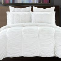Ruffle Full/Queen Duvet Cover Set in White