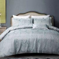 Hotel Paisley Full/Queen Duvet Cover Set in Grey