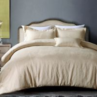 Hotel Paisley Full/Queen Duvet Cover Set in Champagne