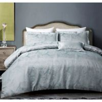 Hotel Paisley King Duvet Cover Set in Grey