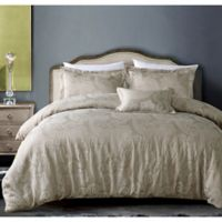 Hotel Paisley King Duvet Cover Set in Taupe