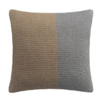 Highline Bedding Co. Colorblock Knit European Pillow Sham in Grey/Taupe