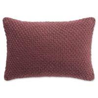 Highline Bedding Co. Habit Oblong Throw Pillow in Berry