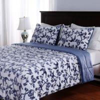 Berkshire Blanket® Birds in Flight 3-Piece Reversible Full/Queen Comforter Set In Blue