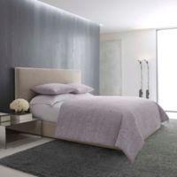 Vera Wang™ Textured Roses Queen Comforter Set in Lilac