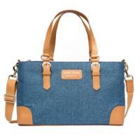 Austin Fowler Reagan Diaper Bag in Blue/Tan