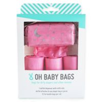 Oh Baby Bags Baby Duffel Gift Box in Pink/Silver