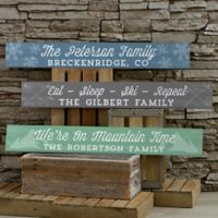 Rustic Winter Personalized Wooden Sign