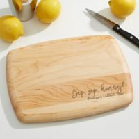 Kitchen Expressions Personalized 8-Inch x 11-Inch Maple Bar Board
