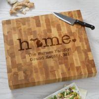 Home State Personalized Butcher Block Cutting Board