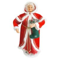 Fraser Hill Farm 3-Foot Dancing Mrs. Claus Decoration in Red