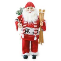 Fraser Hill Farm 36-Inch Music and Motion Santa with Skis Figurine