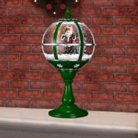 Fraser Hill Farm 23-Inch Musical Tabletop Globe in Green