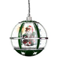 Fraser Hill Farm Hanging Musical Snowglobe